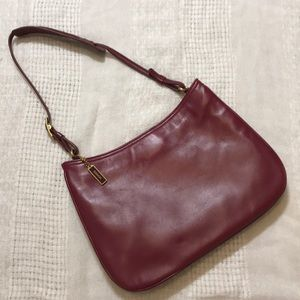 Coach maroon leather shoulder bag